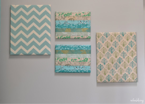 paper and fabric wrapped canvas frames