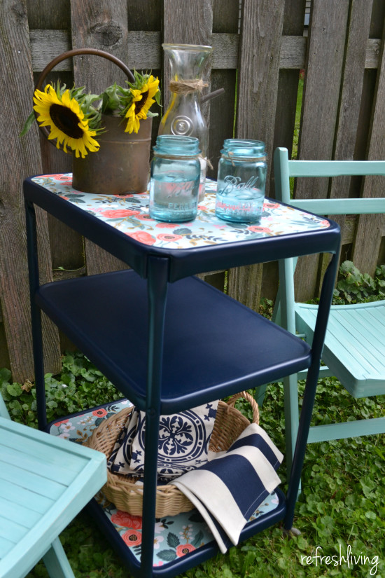 upcycled vintage metal cart 3