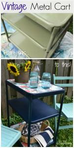 upcycled vintage metal cart