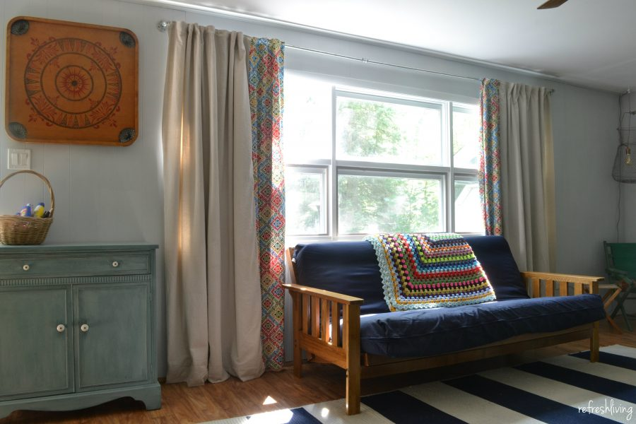 Diy Drop Cloth Curtains Modified For A Large Window