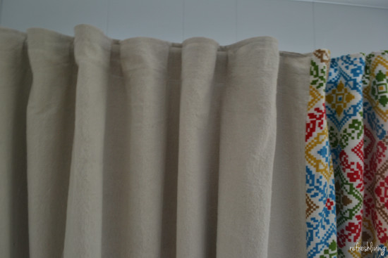 diy drop cloth curtains with lining