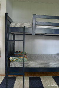 easily update an old bunk bed with paint and fabric   how to paint a bunk bed   how to repair a bunk bed