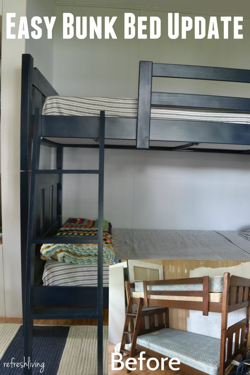 Updated Amp Painted Bunk Beds Refresh Living