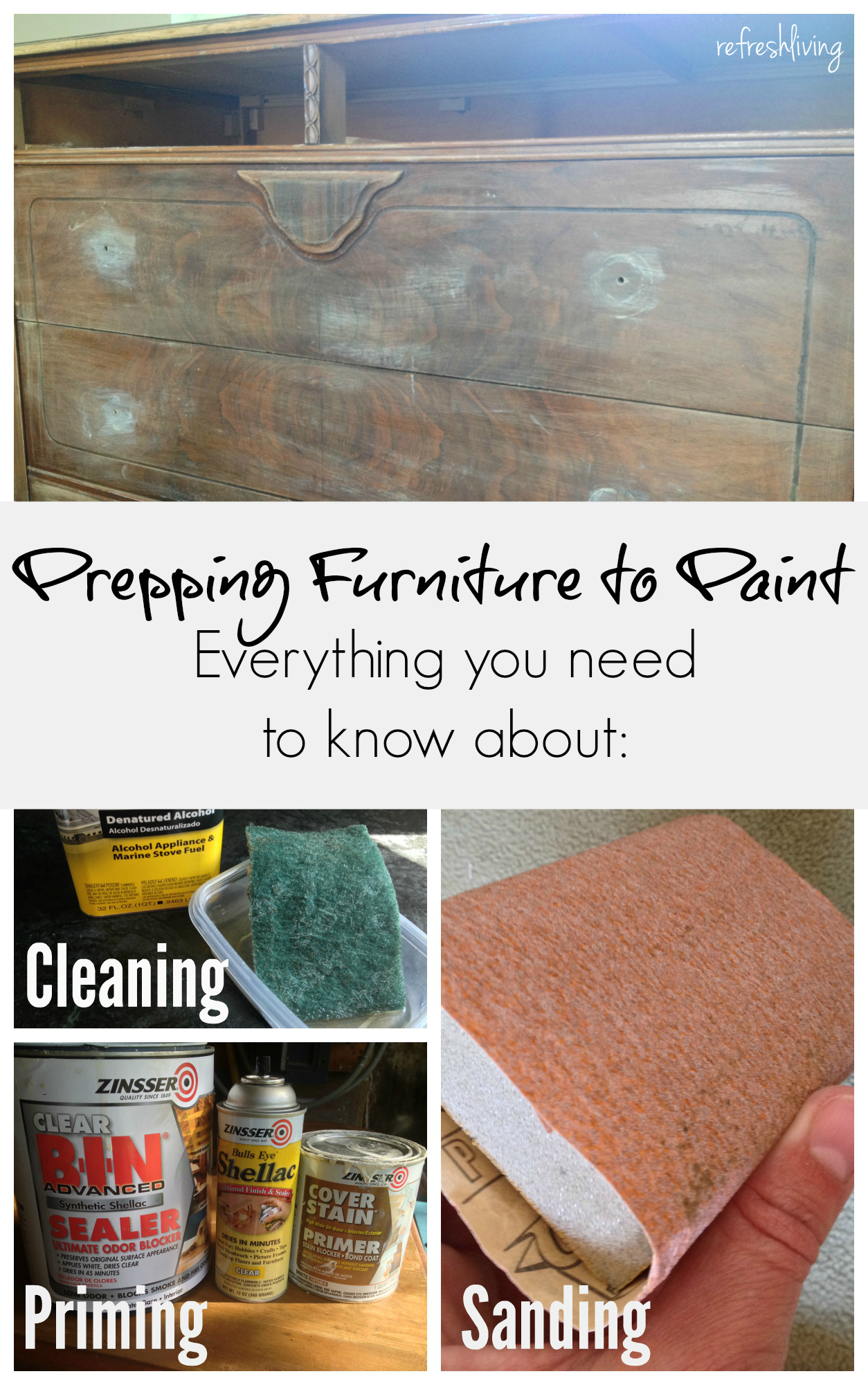 Tips For Preparing Furniture To Paint Refresh Living