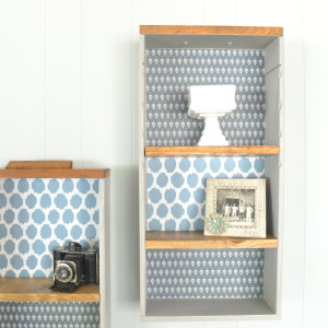 Upcycle Old Drawers into Decorative Shelves