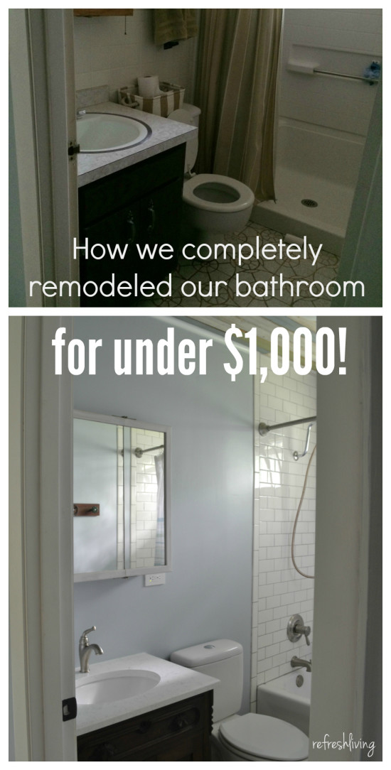 bathroom remodel for under 1000