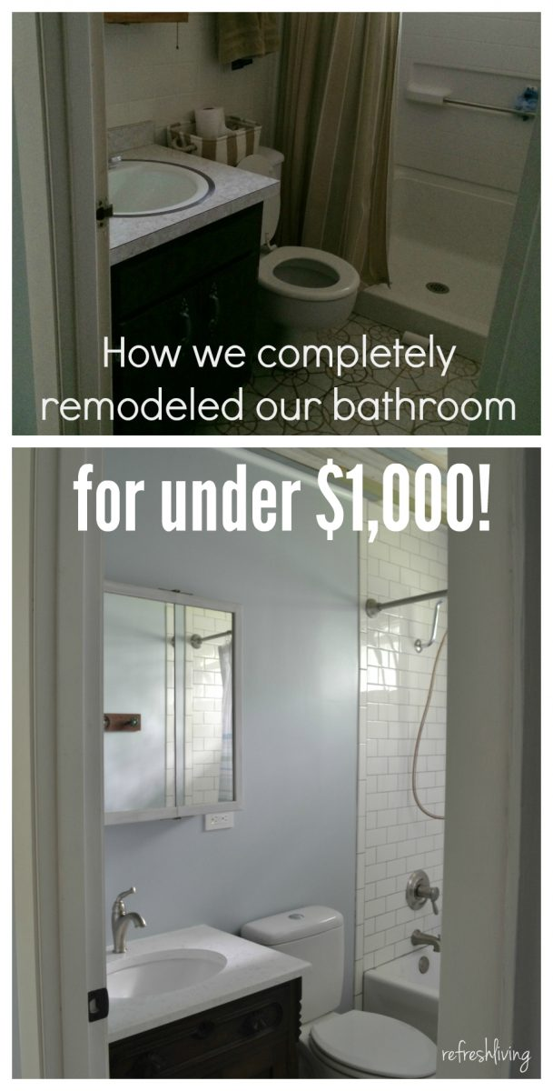 Bathroom Remodel On A Budget With Reclaimed Materials Refresh Living