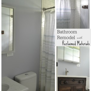 bathroom with beadboard ceiling