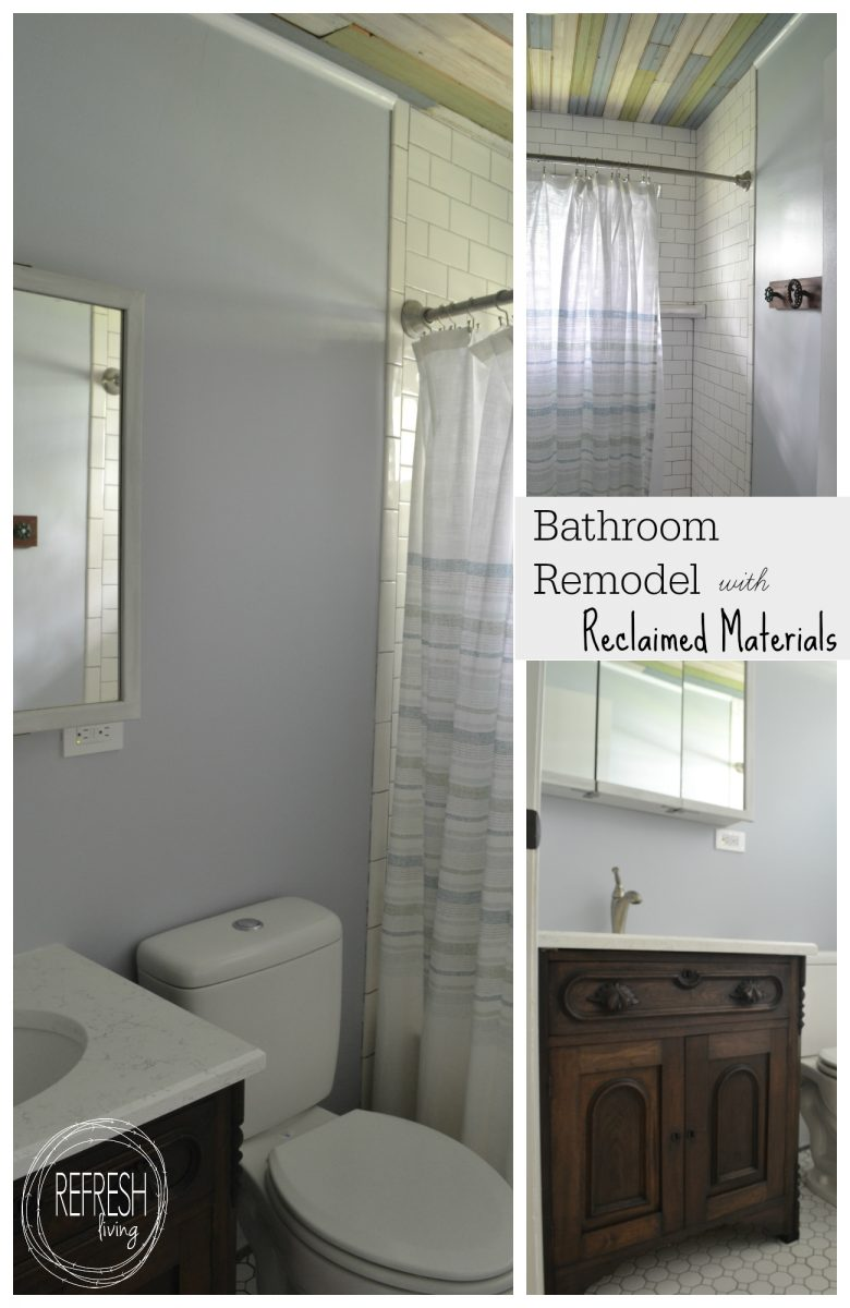 Bathroom Remodels Under $1000 bathroom remodel on a budget with reclaimed materials - refresh living