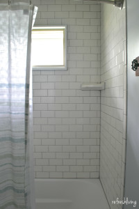 subway tile with gray grey grout