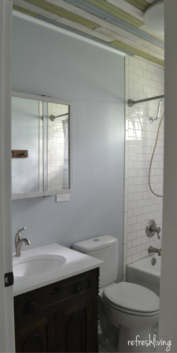 Bathroom Remodels With Beadboard bathroom remodel on a budget with reclaimed materials - refresh living