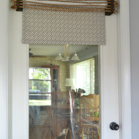 add fabric to roller shade