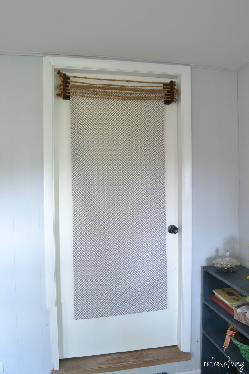 Diy Fabric Roller Shades Refresh Living