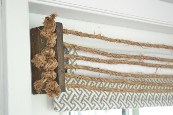 Rustic Rope Valance