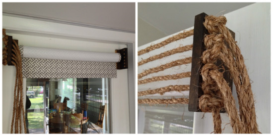 diy valance with rope and wood