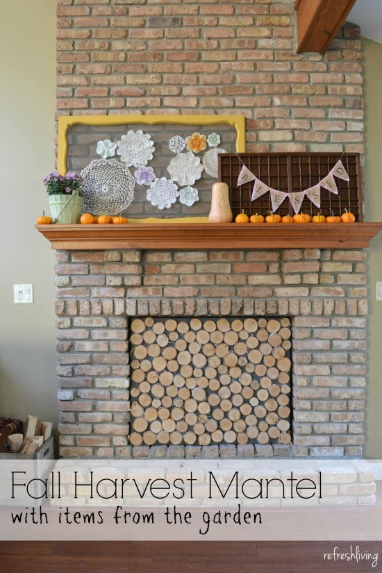 fall harvest mantel