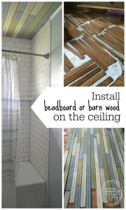 how to install barn wood on the ceiling | tutorial on how to put salvaged wood on the ceiling | pallet wood on ceiling