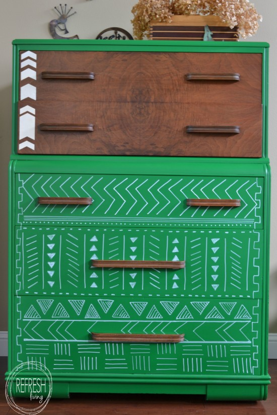 tribal pattern dresser