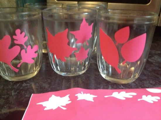 fall leaf candle votive