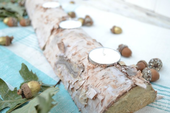 Birch Log Centerpiece