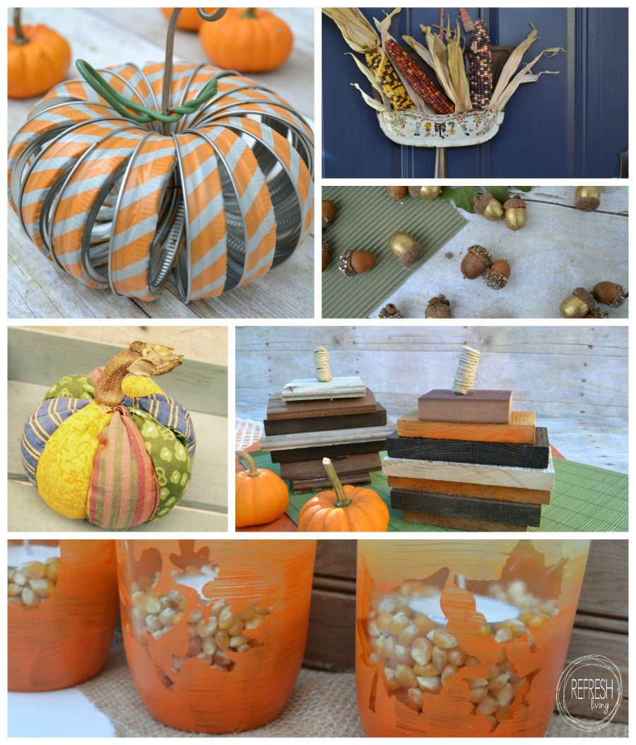 12 upcycled projects to help decorate for fall refresh for Fall diy crafts pinterest