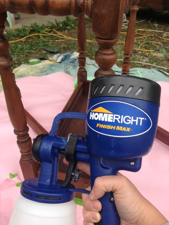 homeright paint sprayer with milk paint