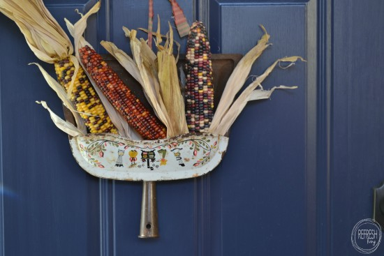 Vintage Dust Pan Fall Wreath