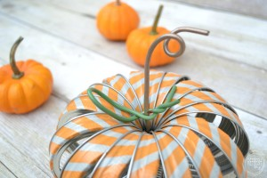 Mason Jar Ring Pumpkins with Washi Tape | Colorful DIY pumpkins with metal rings and wire