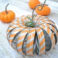 Mason Jar Ring Pumpkin with Washi Tape