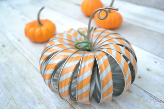 mason jar ring pumpkins with washi tape