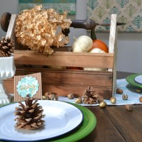 Glittered Pine Cone Place Card Holders