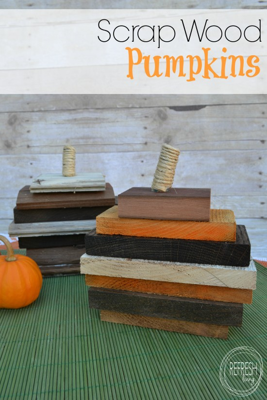 scrap wood pumpkins DIY