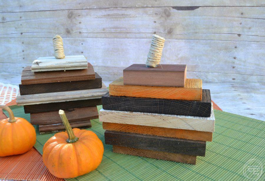 Use up leftover scrap wood to create little pumpkins | easy DIY wood pumpkins
