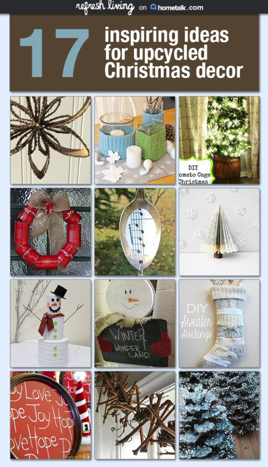 Upcycled holiday decor and crafts