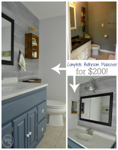 complete bathroom makeover for $200 | budget bathroom remodel | vintage rustic industrial bathroom | modern farmhouse bathroom