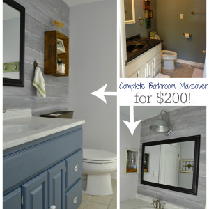 complete bathroom makeovers update an countertop with concrete refresh living 12412