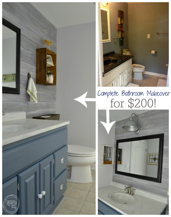 Complete Bathroom Makeover For 200