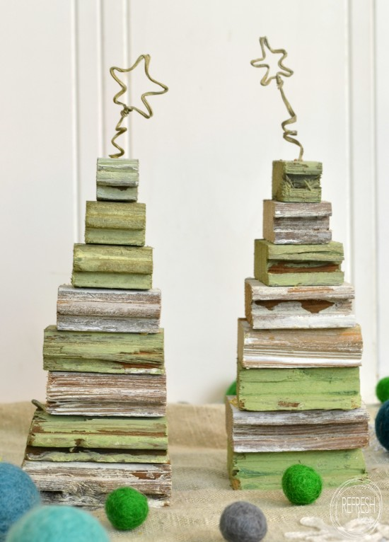 diy christmas trees with scrap wood