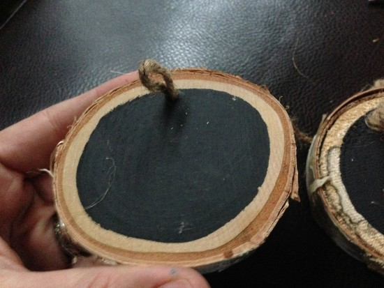 diy craft with wood slices