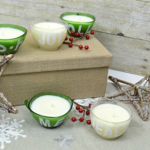 DIY Holiday Candle from Glass Punch Cups | how to make your own candle | handmade gifts for Christmas