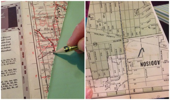 diy vintage map book christmas trees