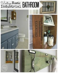 complete bathroom makeover for $200 | budget bathroom remodel | vintage rustic industrial bathroom | modern farmhouse bathroom