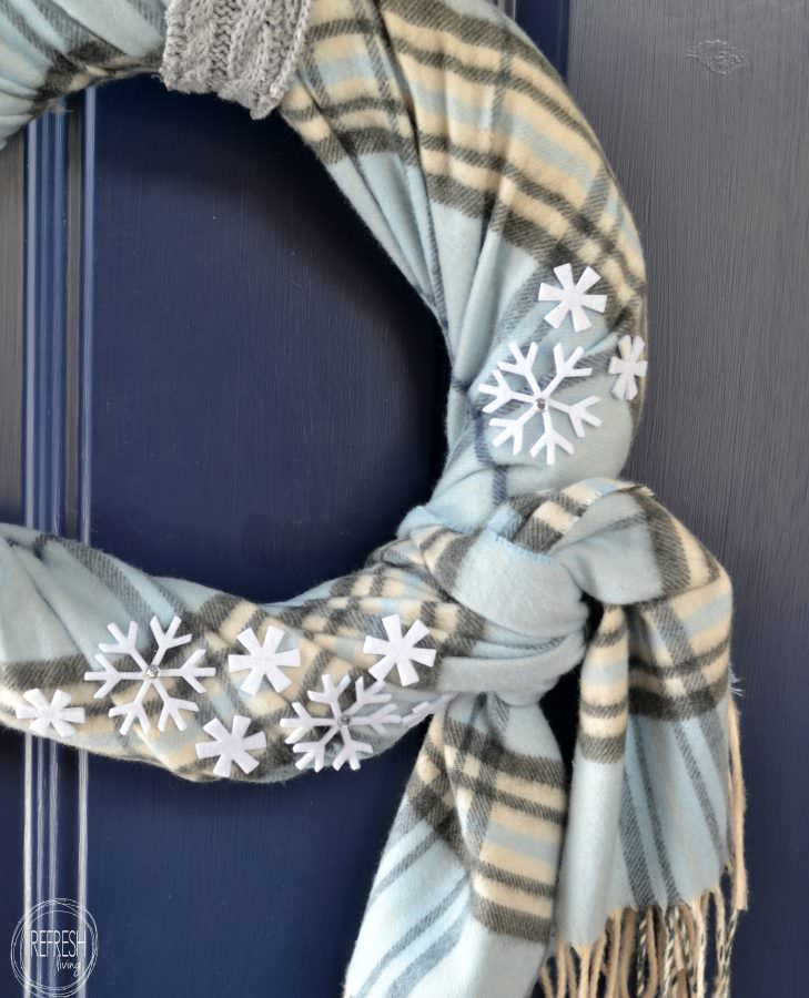 Cozy Winter Wreath with Thrift Store Finds