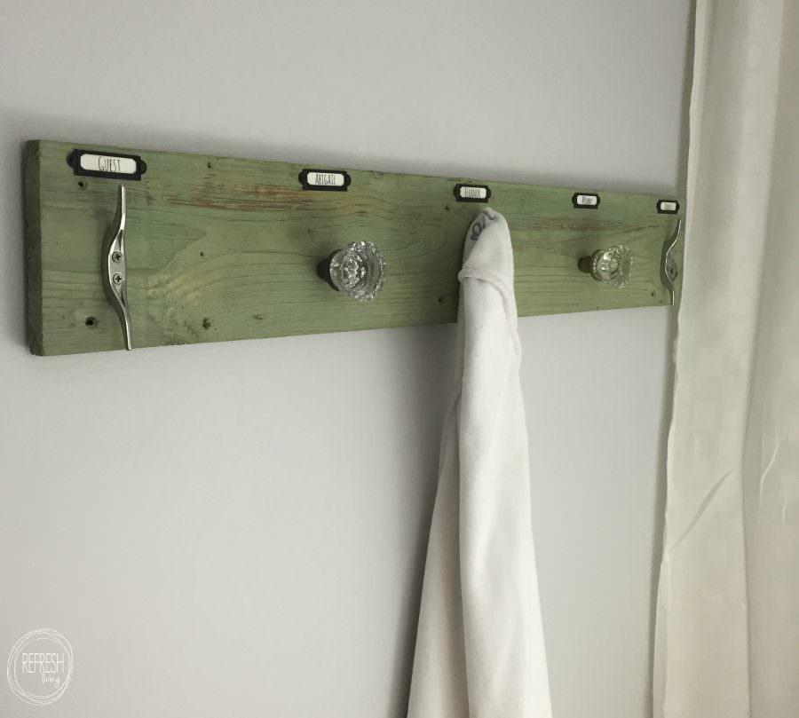 Rustic Industrial DIY Towel Rack - Refresh Living