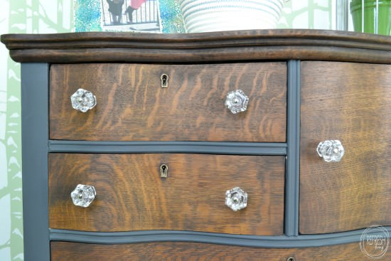 Stain And Paint Antique Two Toned Dresser With Gl S