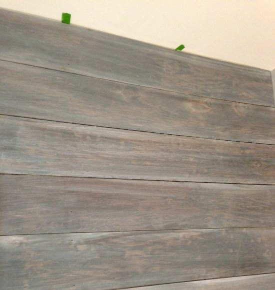 white washed plank wall