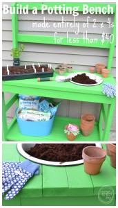 DIY potting bench | Build a potting bench from 2x4s | 2 x 4 project | Potting bench building plans
