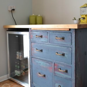 Refinished Antique Baker's Cabinet – Reused to Create Custom Kitchen Storage