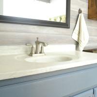 DIY marble countertop | DIY concrete counter over old countertop | how to create a faux marble counter top