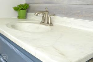 DIY marble countertop   DIY concrete counter over old countertop   how to create a faux marble counter top